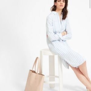 Everlane Stripe Linen Shirt Dress Size 2 Worn once